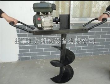 5.5馬力路燈桿用打坑機,便攜式4沖程鑽坑機