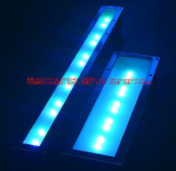 1米18w金黄光led大功率长条形地埋灯